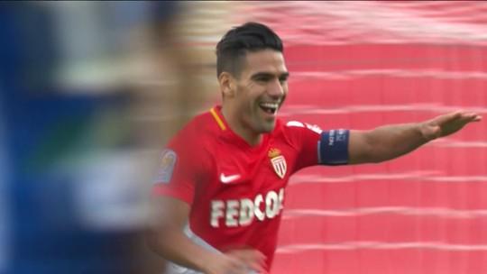 Com uma assistência de Jorge, Falcao faz dois, e Monaco se recupera após goleada