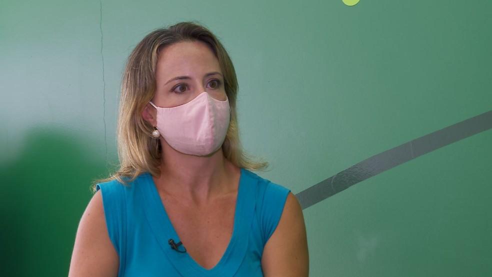 Helena Faccioli, CEO da Farmacore, que desenvolve vacina contra a Covid-19 em Ribeirão Preto (SP) — Foto: Chico Escolano/EPTV/Arquivo