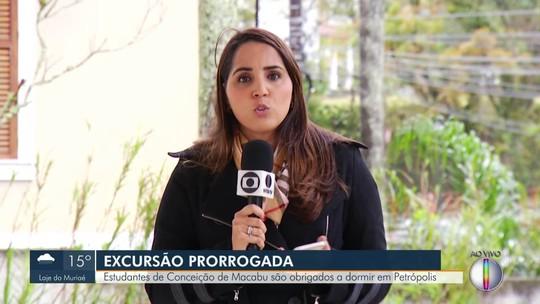 Excursão é prorrogada e alunos de Conceição de Macabu são obrigados a dormir em Petrópolis