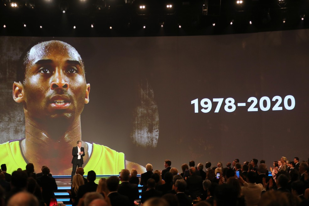Homenagem a Kobe Bryant, um dos momentos mais marcantes do Laureus 2020 — Foto: Andreas Rentz/Getty Images