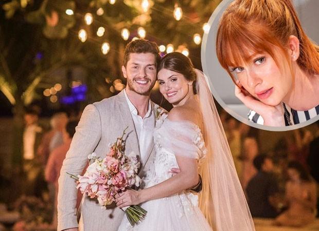 Marina Ruy Barbosa comenta foto de casamento de Camila Queiroz e Klebber Toledo (Foto: Rodrigo Zack e Miguel Sá)