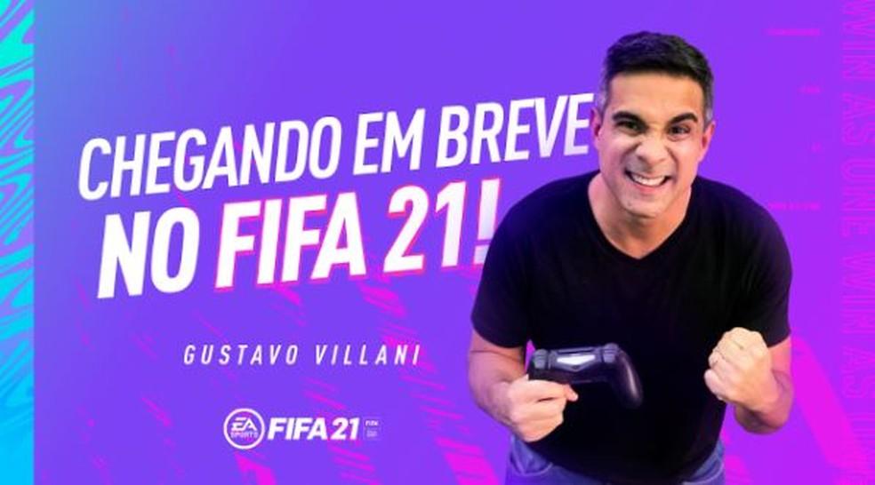 Gustavo Villani é novo narrador do 'Fifa 21' — Foto: Divulgação/EA Sports