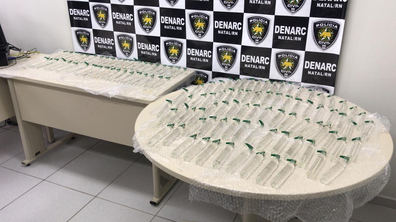 Polícia Civil prende homem com 120 frascos de lança-perfume enviados pelos Correios no RN