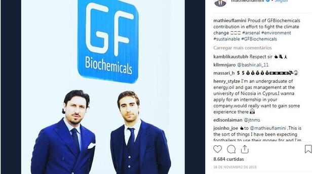 O francês Flamini, em suas redes sociais, falando sobre o seu negócio bilionário (Foto: Reprodução)