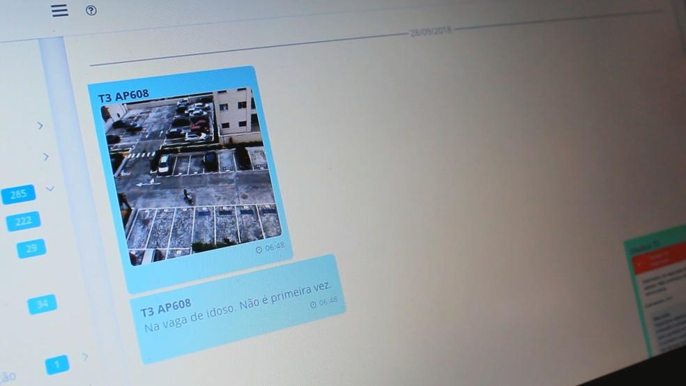 Moradores podem fazer reclamações para o síndico através do aplicativo — Foto: Patrick Marques/G1 AM