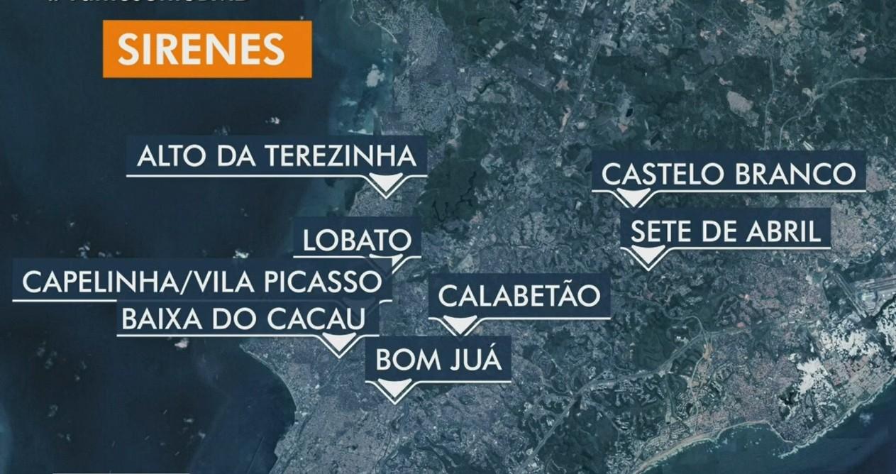 Chuva em Salvador: mais sirenes de alerta para riscos de deslizamentos são acionadas