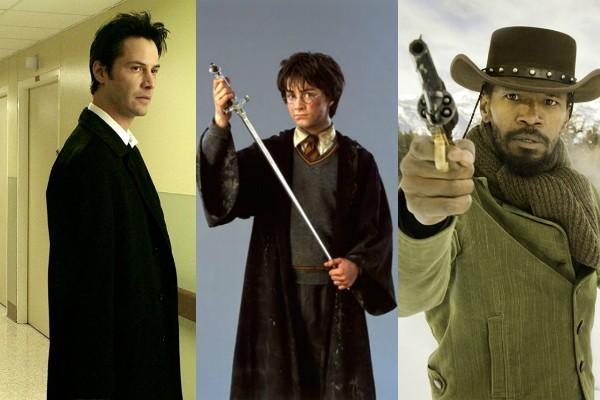 Constantine, Harry Potter e a Câmara Secreta e Django Livre  (Foto: Divulgação)