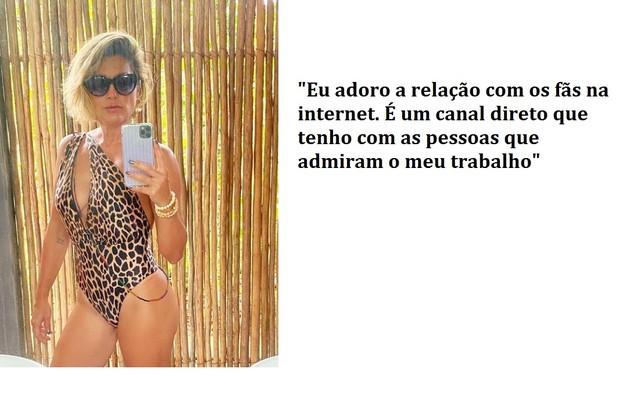 Flávia Alessandra fala de sua relação com os fãs nas redes sociais. Na web, as fotos dela geram milhares de comentários (Foto: Reprodução)