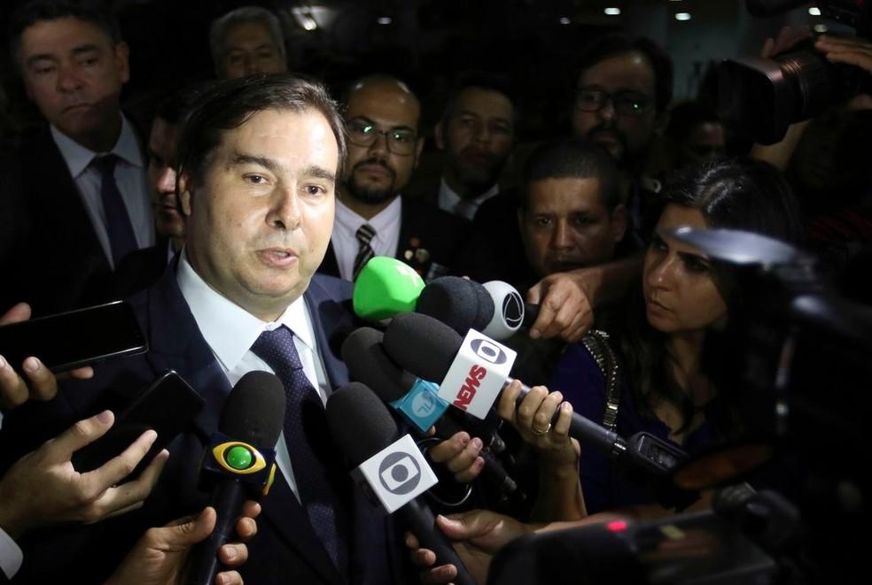 Rodrigo Maia (DEM-RJ), presidente da Câmara dos Deputados — Foto: Fabio Rodrigues Pozzebom/Agência Brasil
