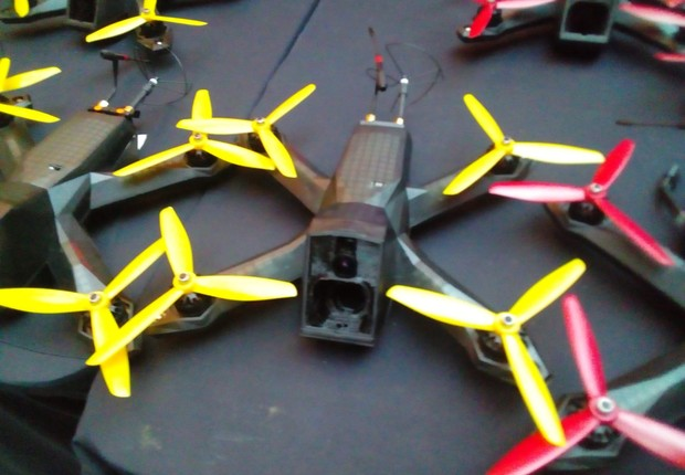 Detalhe de drone da DRL na semifinal da Drone Racing League (DRL)  (Foto: Juliana Guarany)