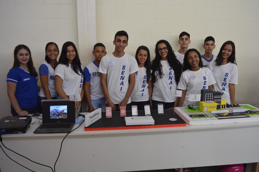 -  Estudantes apresentam ideias para inovação do mercado em evento do Senai em Ariquemes  Foto: Diêgo Holanda/G1