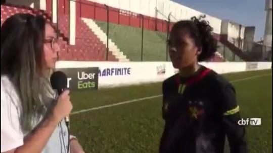 """Jogadora do Sport desabafa após sofrer goleada para o Santos: """"Falta foco do clube em nós"""""""