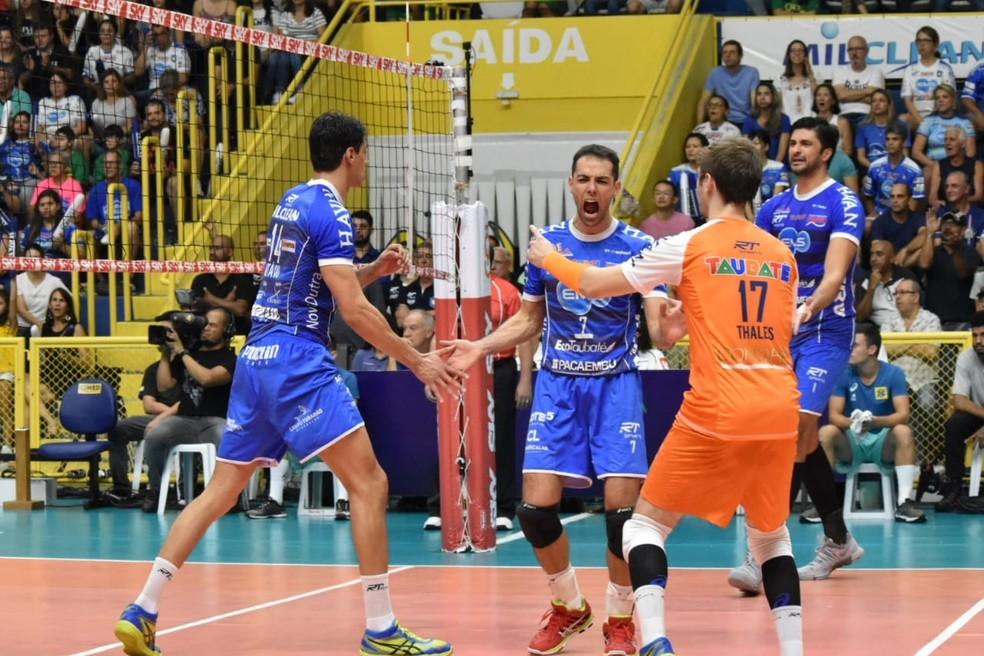 Taubaté vence Jogo 2 da final da Superliga — Foto: Filipe Rodrigues/ GloboEsporte.com