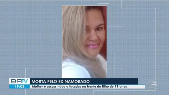 Mulher é morta a facadas pelo ex na frente do filho de 11 anos na BA; vítima era ameaçada por conta do término da relação