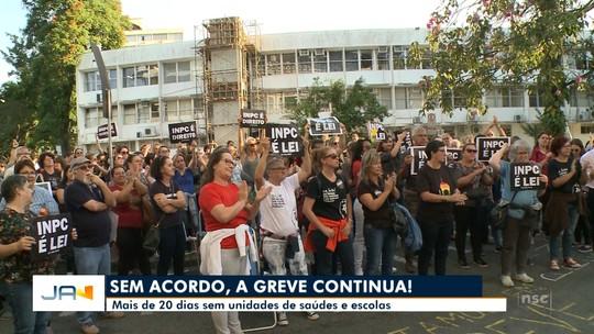 Servidores municipais de Blumenau não aceitam contraproposta da prefeitura e greve continu