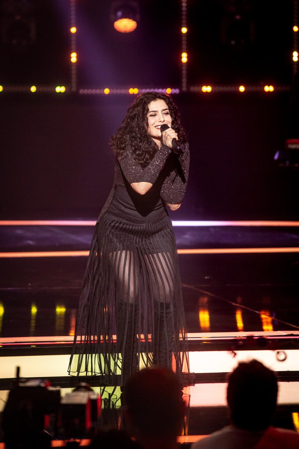 Leticia Sabatella estreia no 'Popstar' com música internacional de Quincy Jones — Foto: Isabella Pinheiro/Gshow