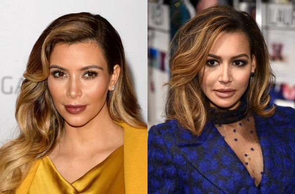 Kim Kardashian e Naya Rivera (Foto: Getty Images)