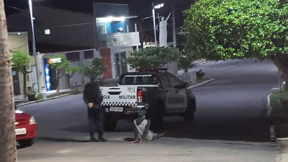 Um suspeito foi preso de envolvimento no assalto em Cerro Corá, no Seridó potiguar. — Foto: Redes sociais