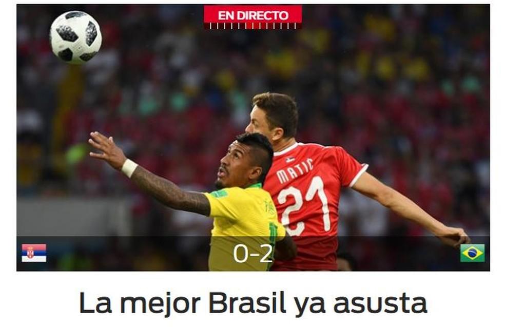Sport Brasil x Sérvia (Foto: Reprodução)