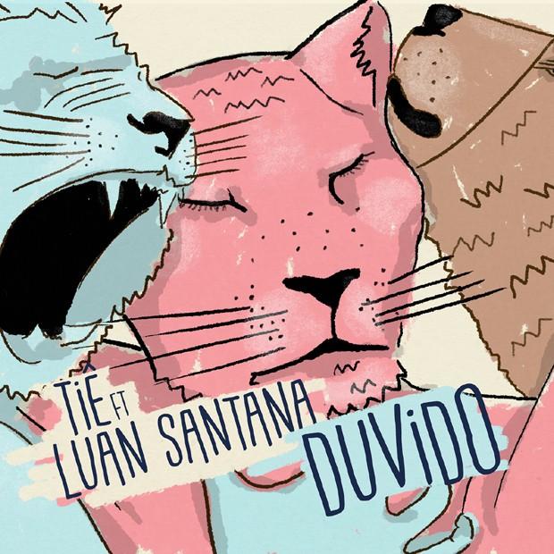 Capa do single Duvido, de Tiê e Luan Santana (Foto: Divulgação)