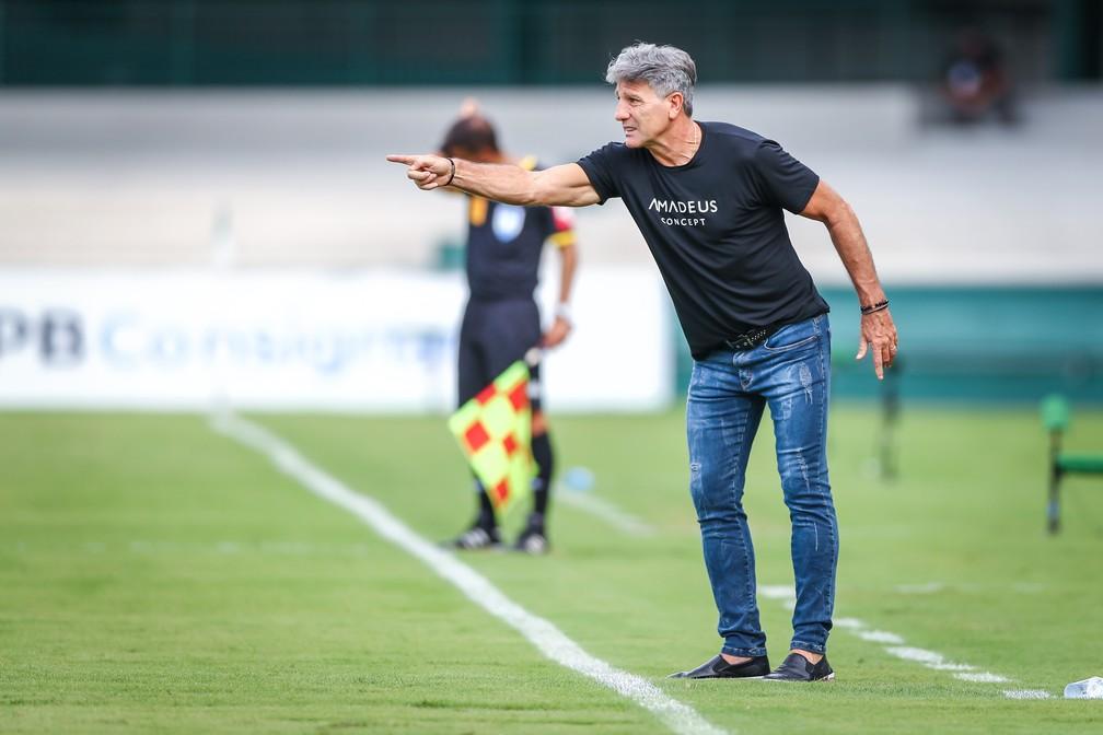 Renato Portaluppi em empate do Grêmio — Foto: Lucas Uebel/Grêmio