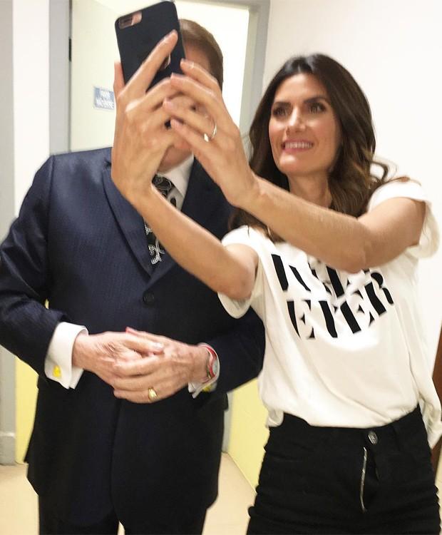 Silvio Santos e Isabella Fiorentino (Foto: Reprodução/Instagram)