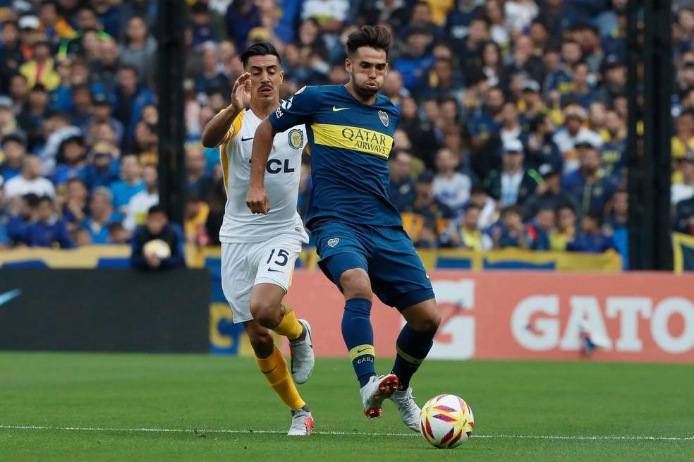 Emmanuel Mas está na mira do Grêmio para a próxima temporada — Foto: Divulgação/Boca Juniors