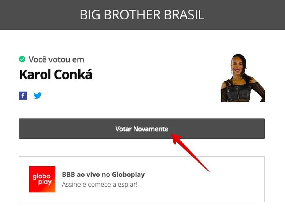 Paredão BBB 21: votação pode ser repetida — Foto: Reprodução/Helito Beggiora