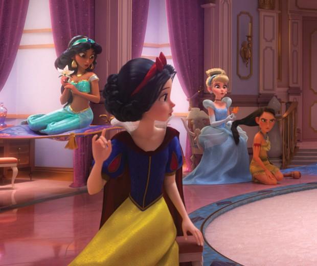 As Princesas Branca de Neve, Pocahontas, Cinderela e Jasmine (Foto: divulgação)