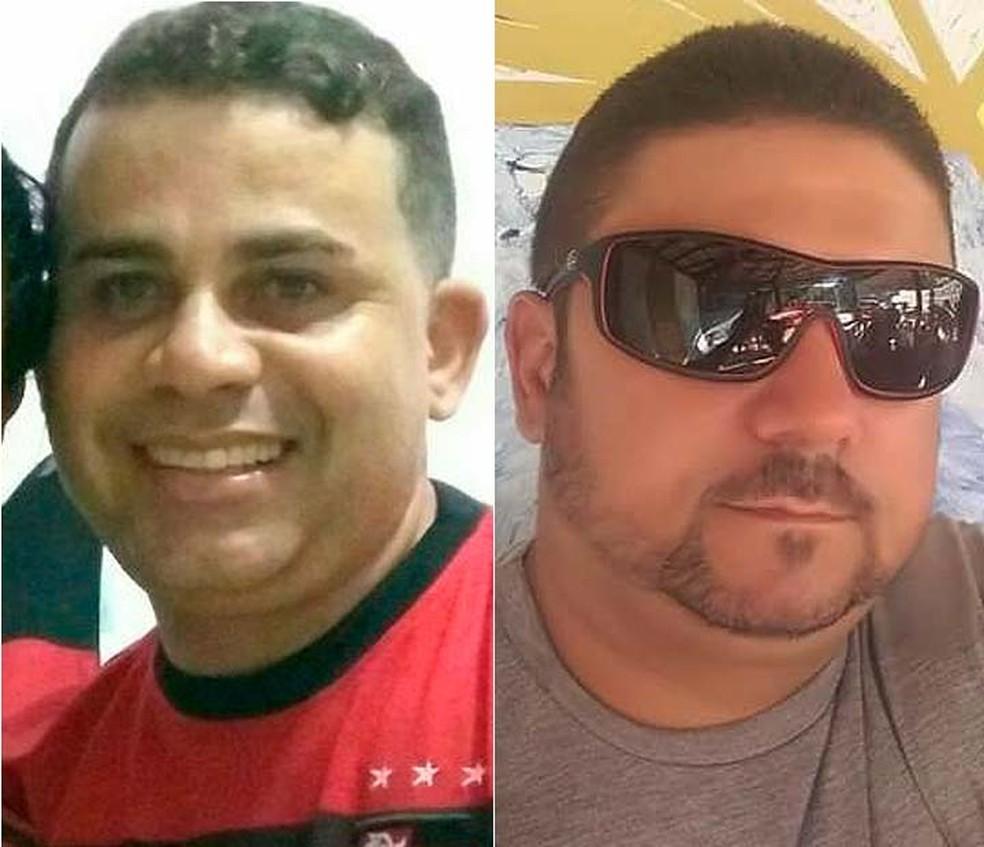 Edvaldo Araújo Alves e Evandro Bonfim, vítimas de Wane Brenda em Itabuna, no sul da Bahia (Foto: Reprodução/Redes Sociais)