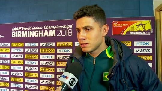 """Thiago Braz lamenta desempenho no Mundial Indoor de atletismo: """"Tive algumas dificuldades"""""""