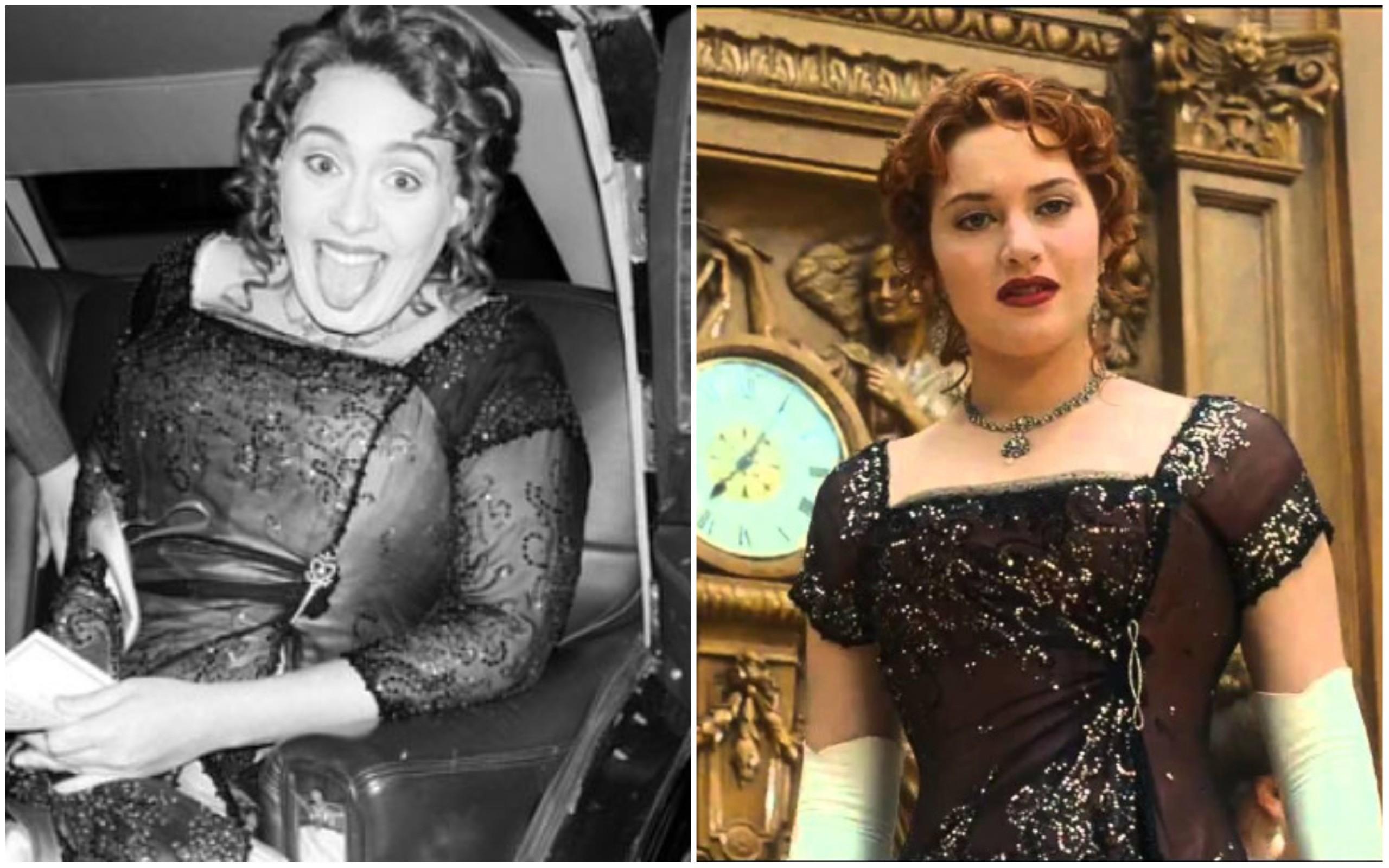 Adele e Kate Winslet como Rose de Titanic (1997) (Foto: Instagram / Divulgação)