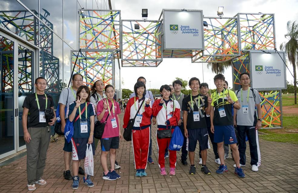 Além das delegações representnao todo os estados do país,  Jogos Escolares também contaram com atletas do Japão (Foto: Washington Alves/Exemplus/COB)