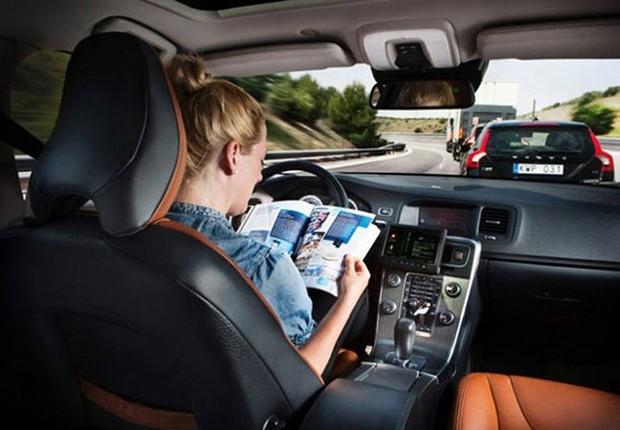 Modelo de carro autônomo da Volvo ; carro sem motorista da Volvo ;  (Foto: Reprodução/YouTube)