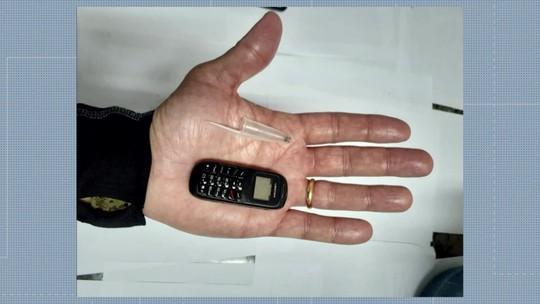 Minicelular é apreendido durante inspeção em presídio de Japeri