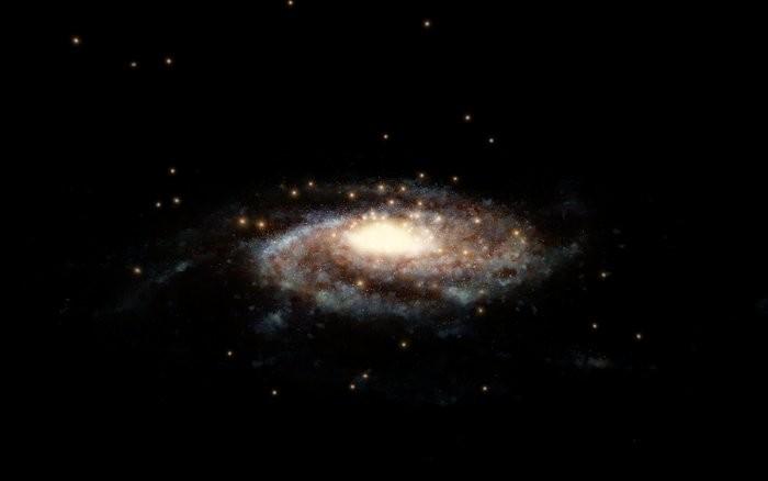Representação artística de aglomerado globular na Via Láctea (Foto: ESA/Hubble, NASA, L. Calçada)