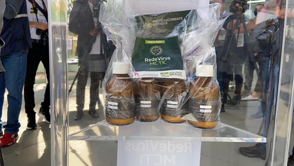 Voluntários receberam kit com nitazoxanida para estudo clínico em Bauru, uma das cidades que participou do estudo do Ministério. — Foto: Alisson Negrini/TV TEM