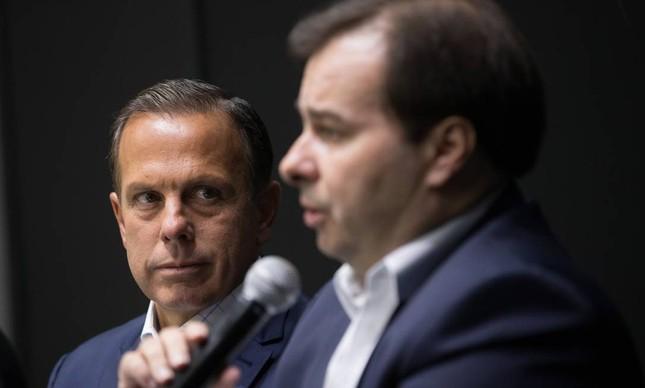 João Doria e Rodrigo Maia