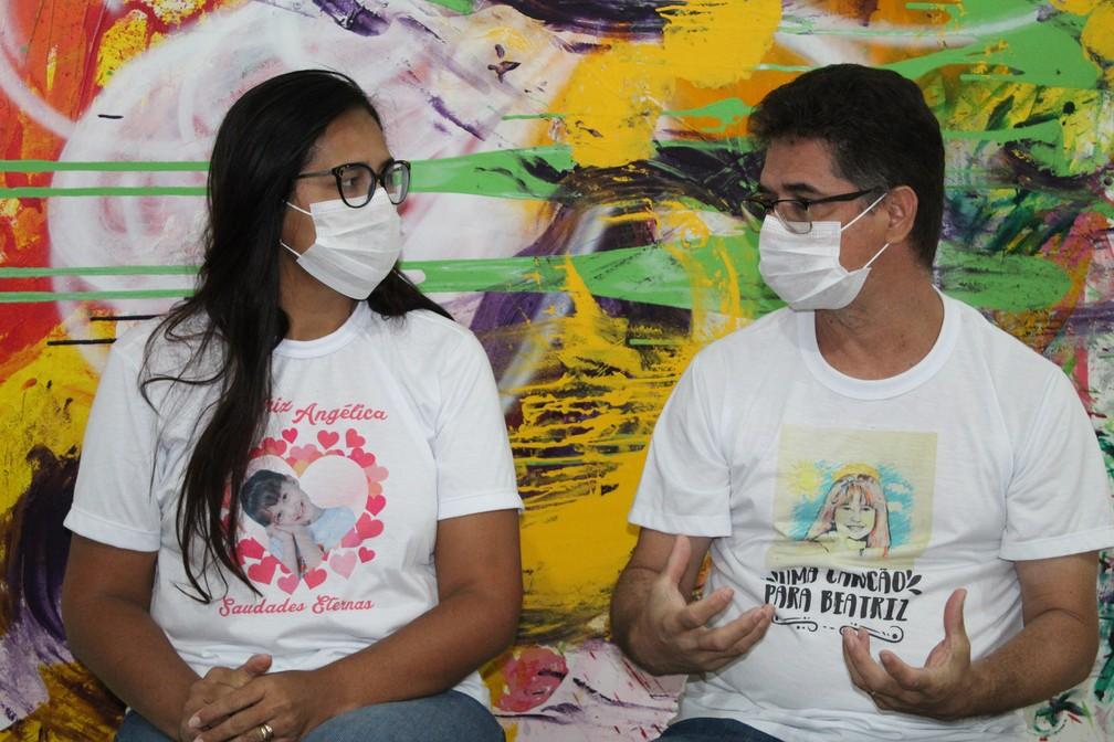 Pais da menina Beatriz, Lúcia Mota e Sandro Romilton lutam por justiça — Foto: Emerson Rocha /G1 Petrolina