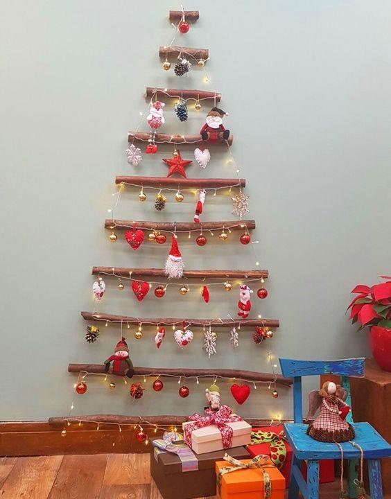 Árvore de Natal diferente (Foto: Pinterest / GSHOW)