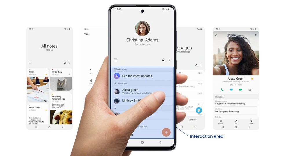 Galaxy A51 vem com Android 10 (One UI) — Foto: Divulgação/Samsung