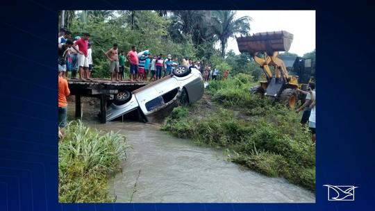 Caminhonete cai em rio e ocupantes morrem afogados no MA