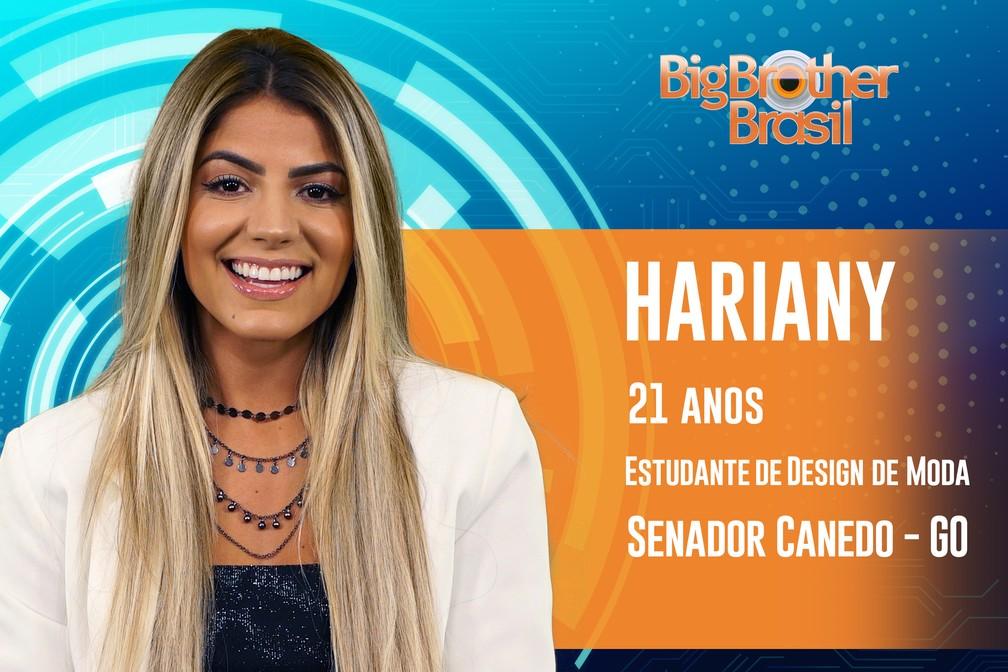 Hariany, participante do 'BBB19' — Foto: Divulgação