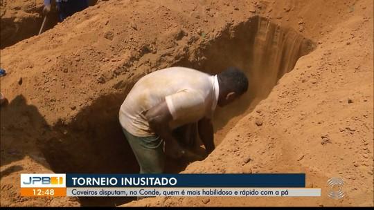Torneio 'Pá na Cova' premia coveiros mais rápidos da Paraíba