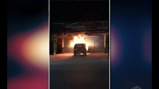 Viatura da guarda municipal de Moju, no nordeste paraense, é incendiada por criminosos