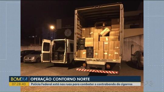 PF prende 15 pessoas em ação para combater contrabando de cigarros em cidades do Paraná e em outros estados