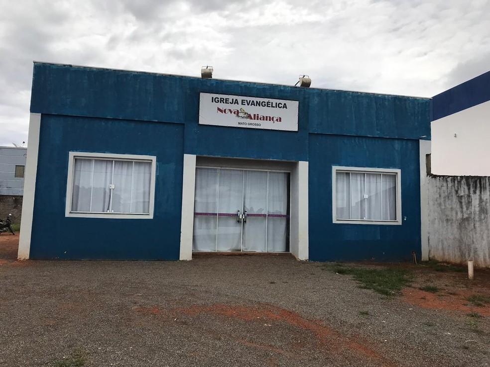 Crime ocorreu durante culto em igreja evangélica — Foto: Aline Dessbesell/ Centro América FM