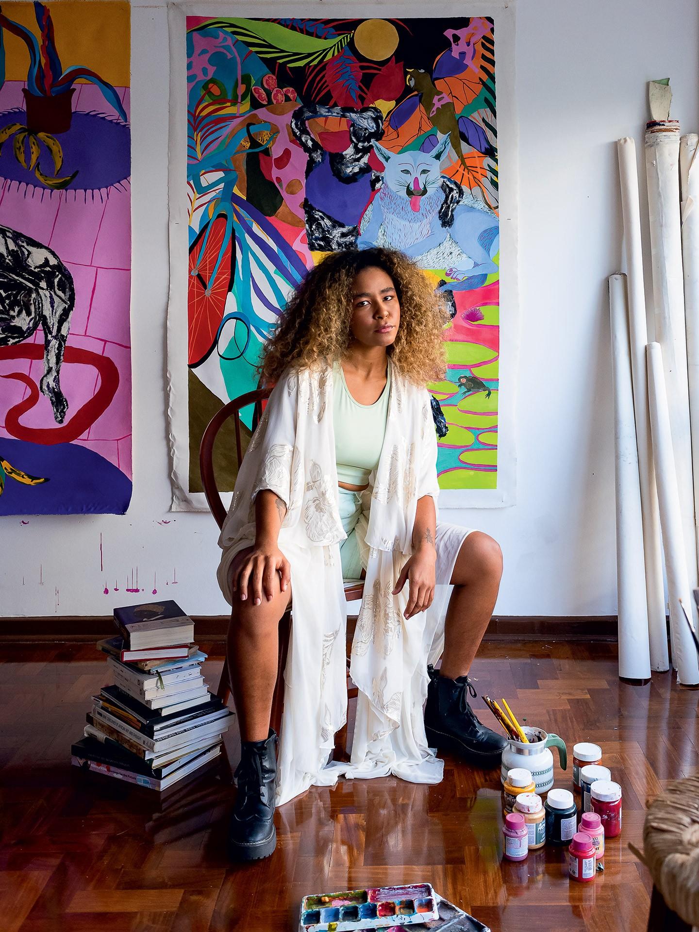 5 artistas em ascensão abrem as portas de seus ateliês e contam sobre suas rotinas e inspirações para criar (Foto: Wesley Diego Emes)
