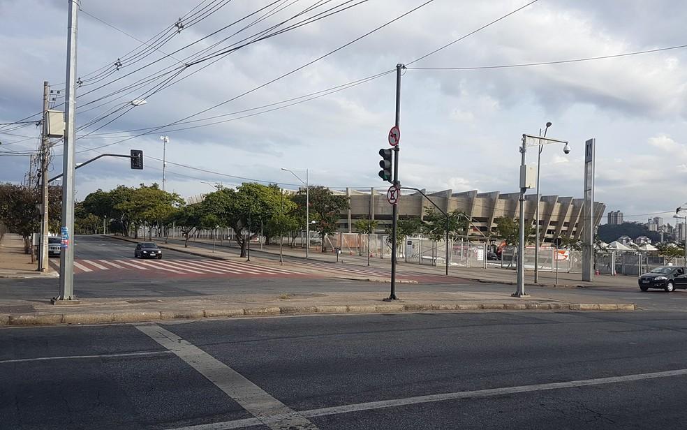 Estádio Mineirão tem pouco comércio no entorno, na Região da Pampulha, em Belo Horizonte (Foto: Marcella Gasparete/G1)