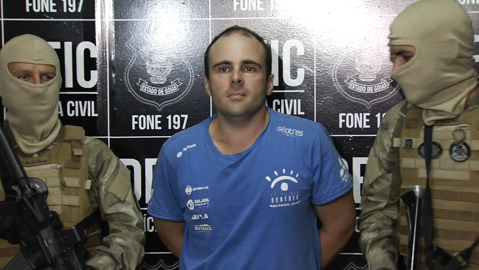 O piloto Felipe Ramos Morais foi preso na segunda-feira em Goiás — Foto: GloboNews/Reprodução